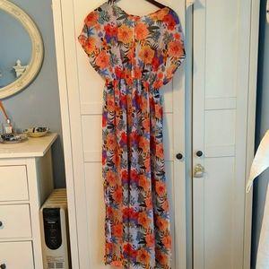 Long sheer floral dress